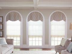 Dekoracje okien wsalonie